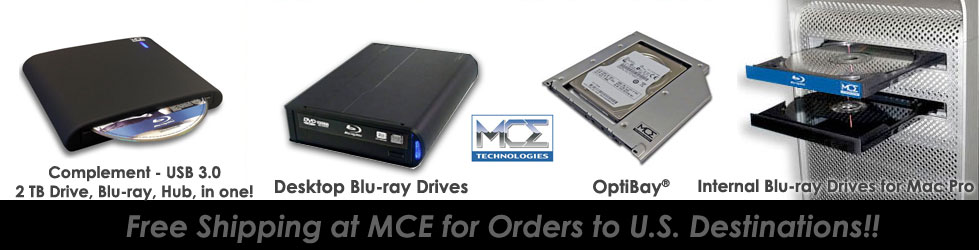 MCE Internal 16X Blu-ray Recordable Drive for Mac Pro and